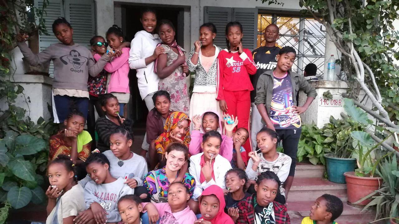 .Sabela Eiria. Realizó su voluntariado en Madagascar, en donde pudo participar en múltiples programas