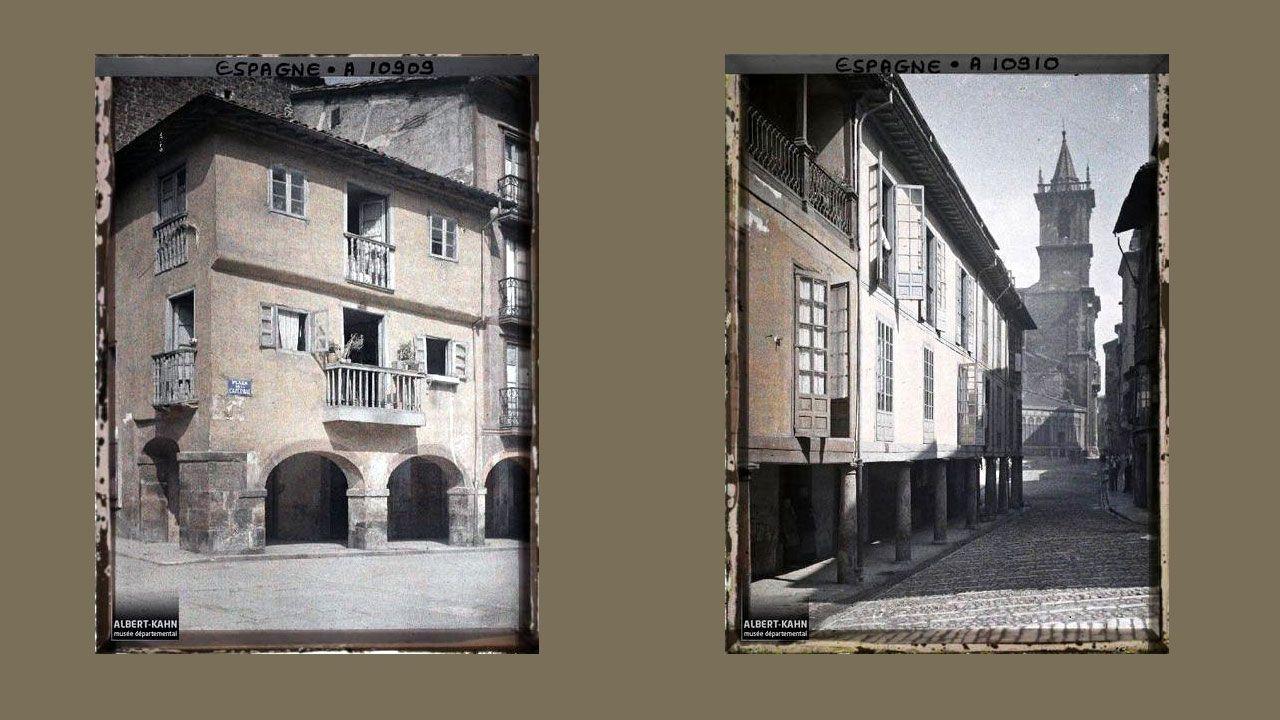 Casa en la plaza de la Catedral. Calle del Fierro con San Isidoro al fondo.
