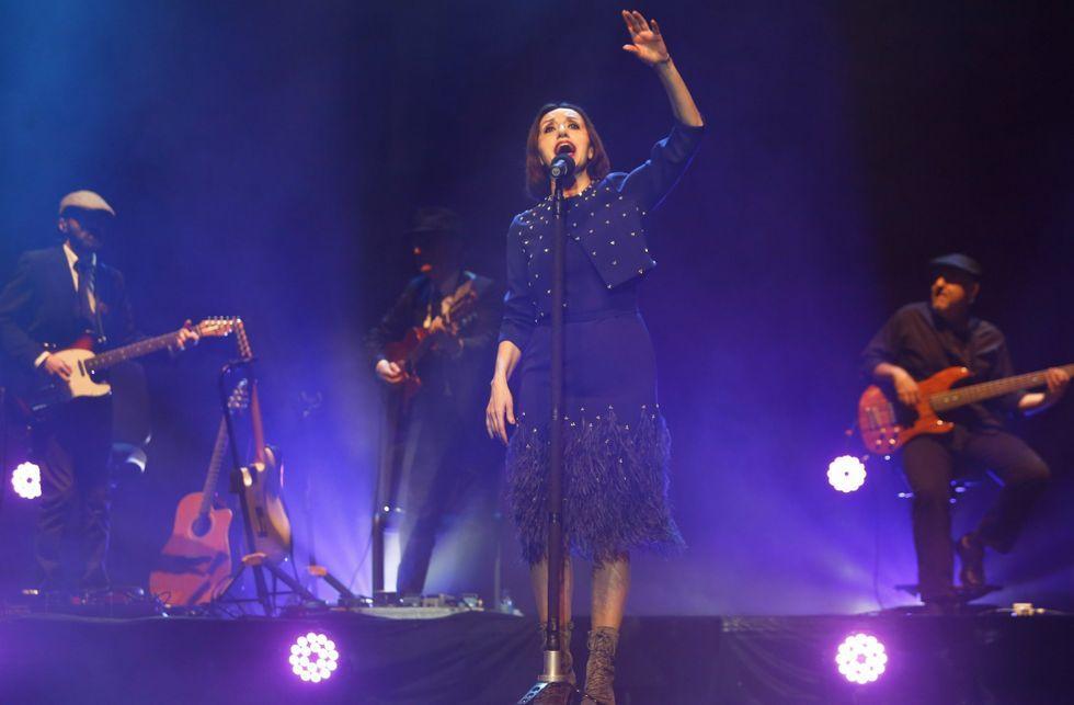 .Foto de archivo del concierto de Luz Casal en el Auditorio en marzo de este año.