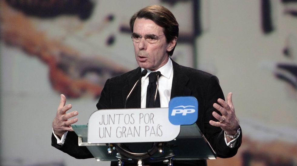 «Daré mi opinión en los plazos que marque el congreso del PP».José María Aznar, en una imagen de archivo