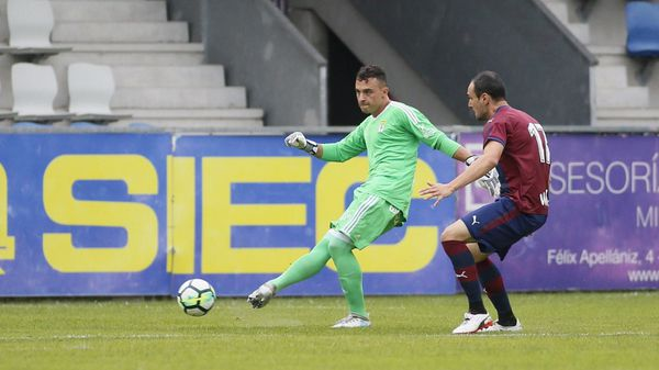 Alfonso Herrero durante un partido de pretemporada