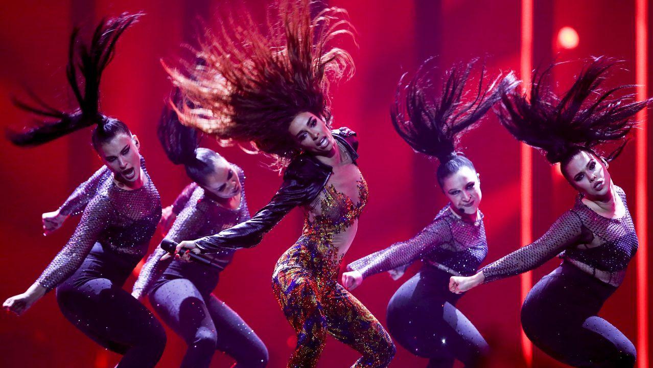 Así canta Eleni Foureira «Fuego», una de las favoritas de Eurovisión