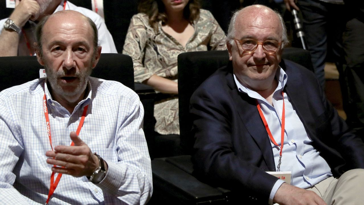 Joaquín Almunia y Alfredo Pérez Rubalcaba