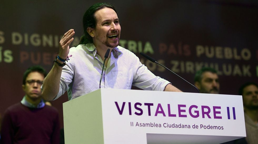 Iglesias se suma al grito de «unidad» que aclaman en Vistalegre.