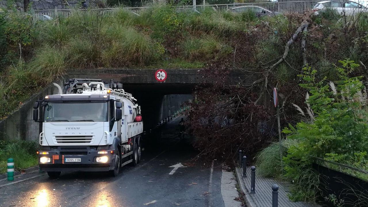 Efectos del temporal en la comarca coruñesa