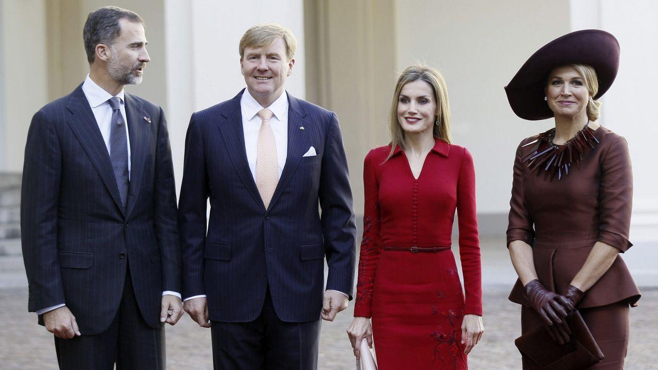 Con los reyes de Holanda