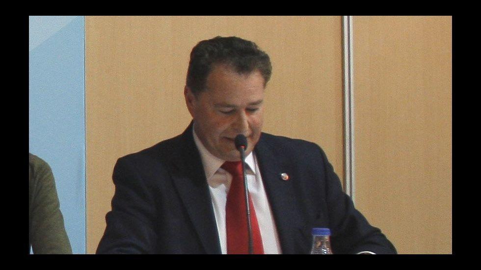 El presidente de la Camara de Comercio de Gijón, Félix Baragaño