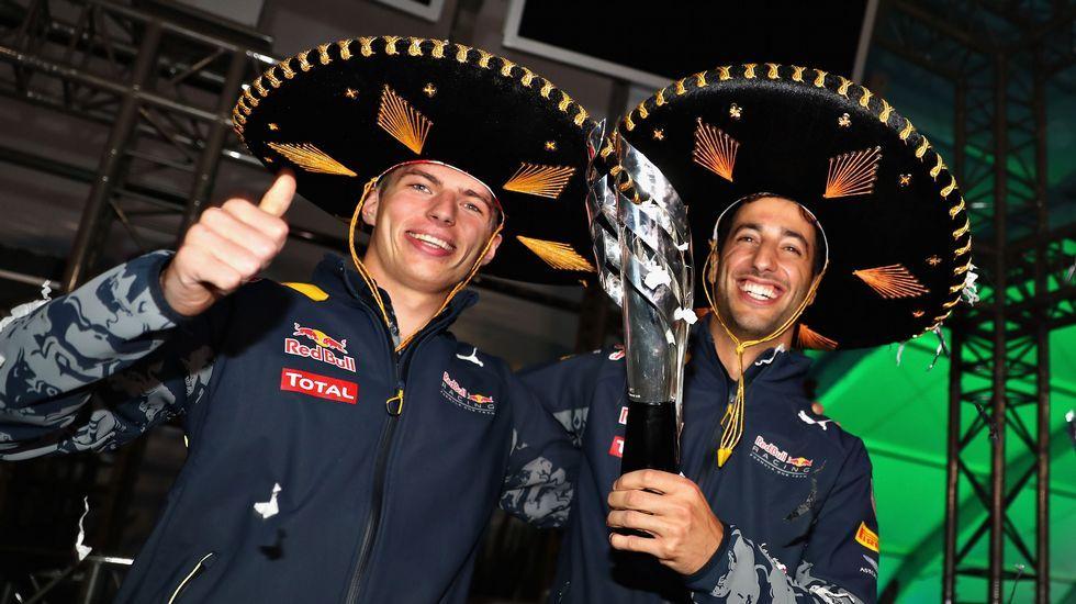 Verstapen y Ricciardo, tras la carrera