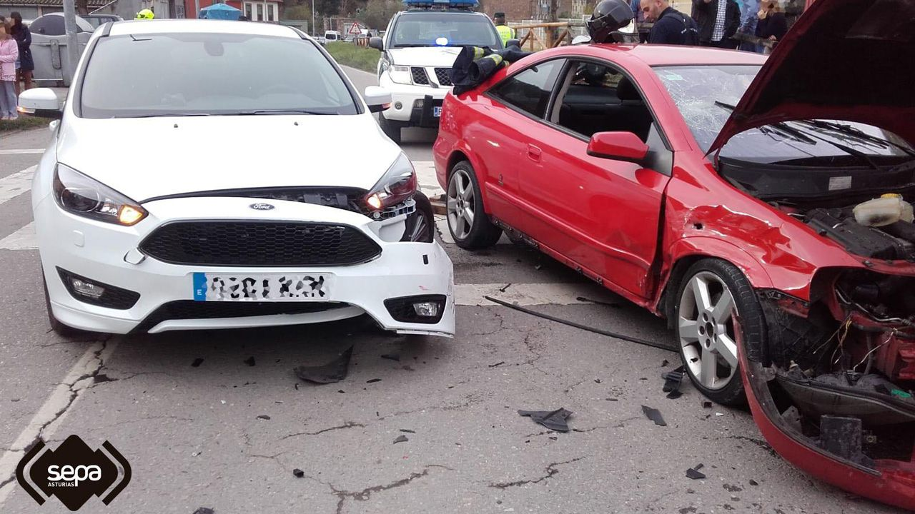 Accidente de tráfico en Mieres