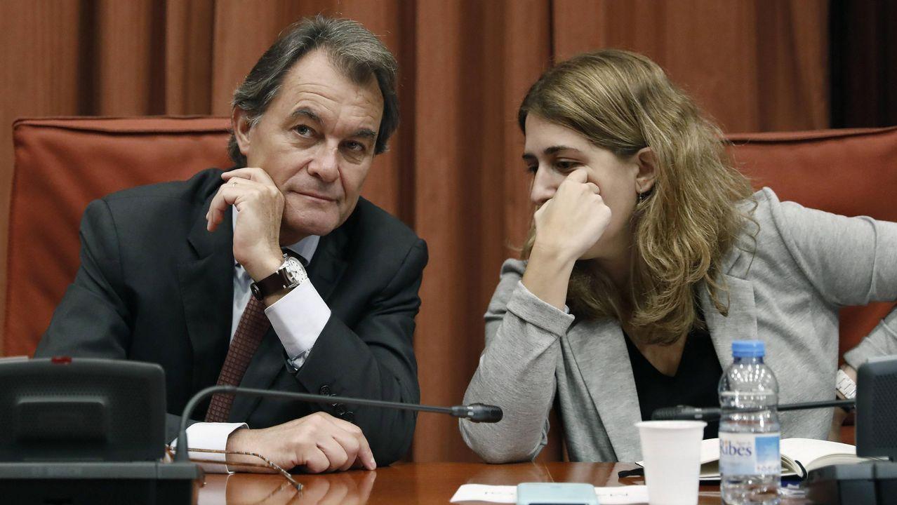 El soberanismo toma posiciones de cara al 21D.Artur Mas y Marta Pascal
