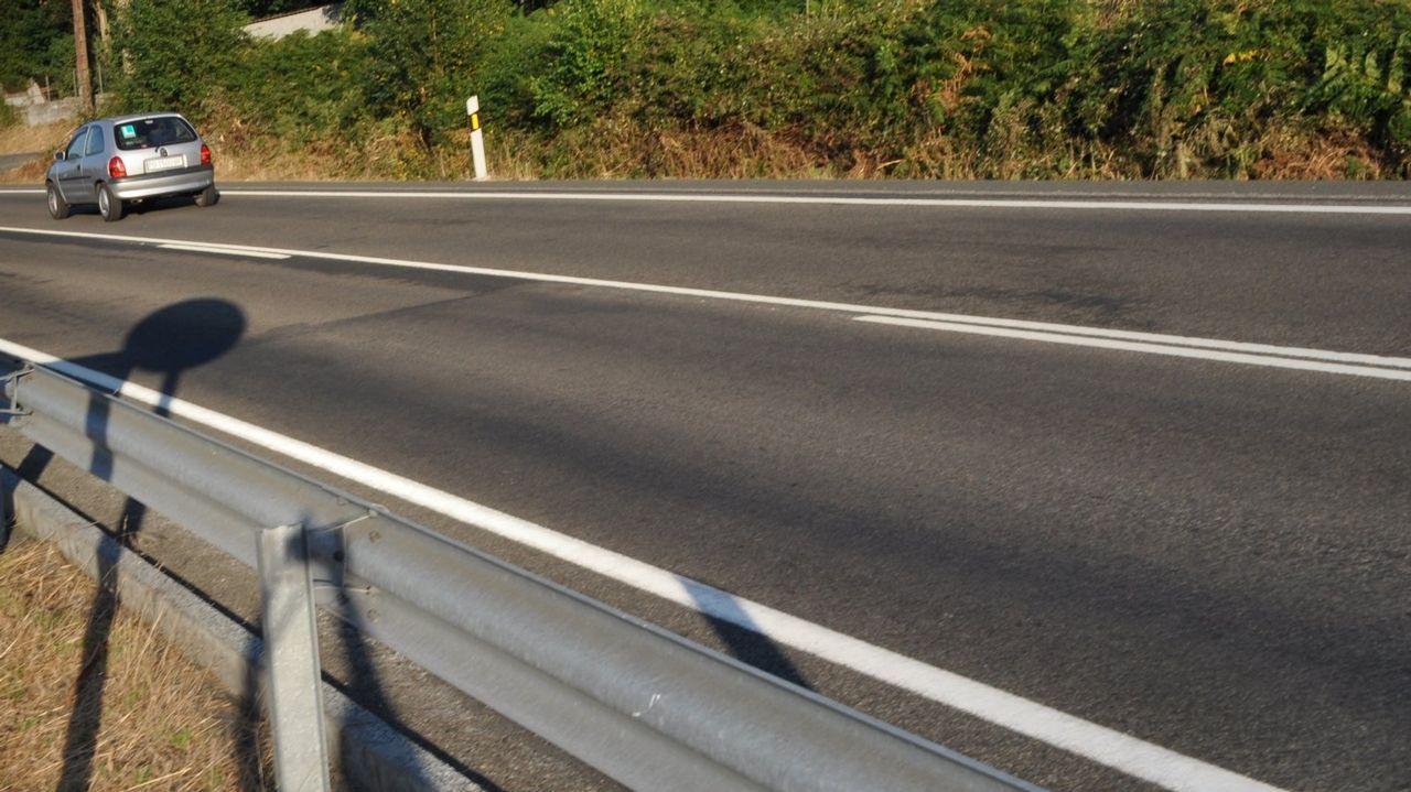 .La N-640 a su paso por Antas de Ulla, en una imagen de archivo