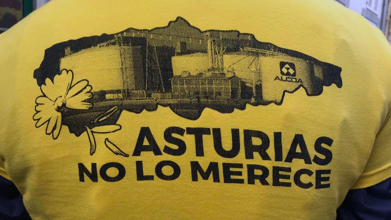 Protesta de los trabajadores de Alcoa en  Castropol