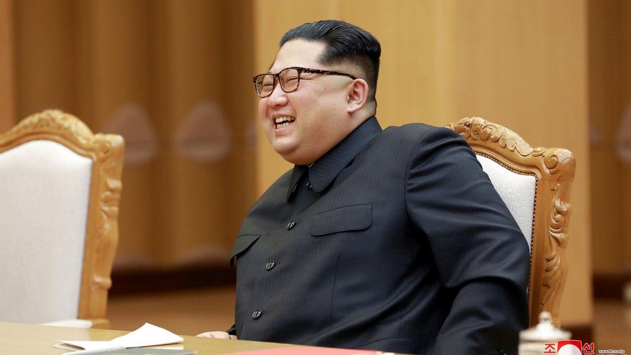 Imagen del pasado 26 de abril, Mike Pompeo junto a Kim Jong-un