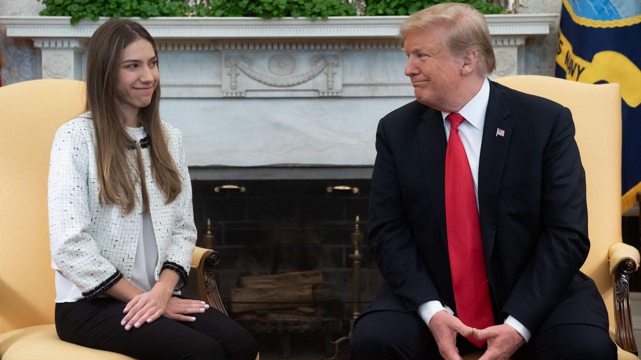 Fabiana Rosales, esposa de Guaidó, fue recibida por Trump en el despacho oval