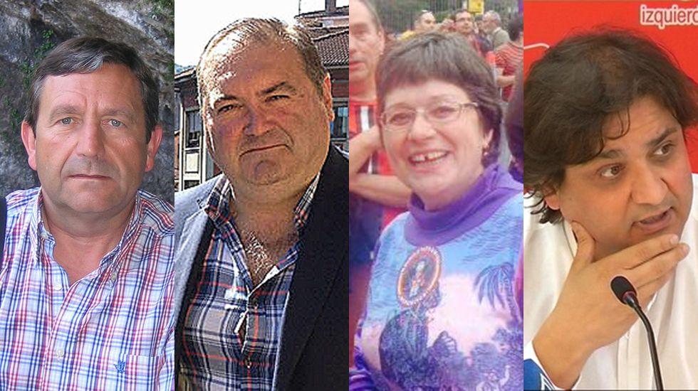 Fernando Díaz Rañón, Ramón Argüelles, Telly Lorenzo y Alejandro Suárez, candidatos a las primarias de IU.
