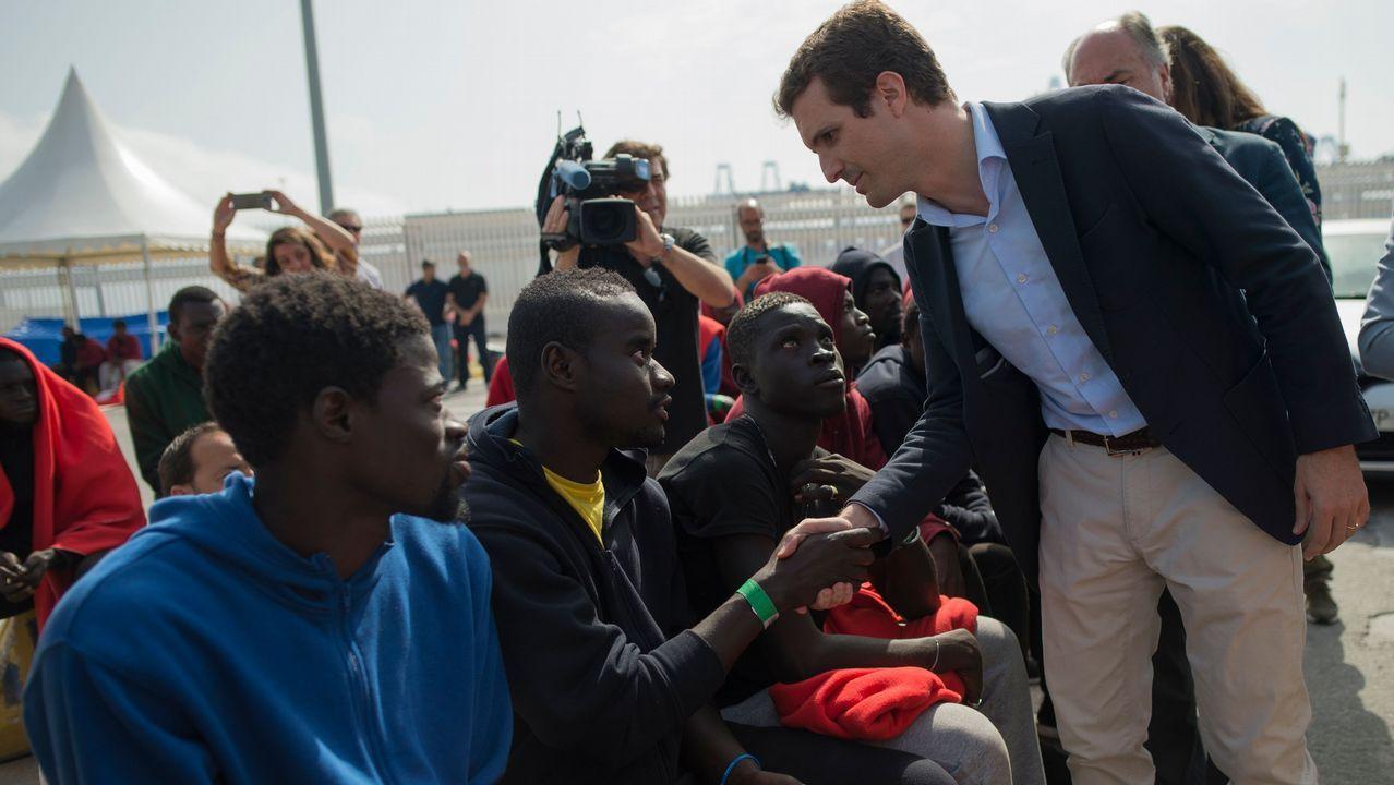 Casado visita Algeciras y apuesta por un Plan Marshall en África