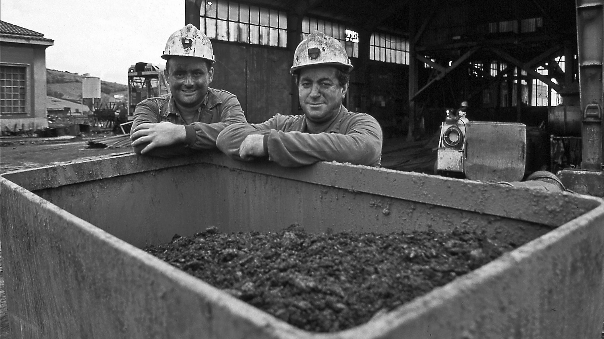 Trabajadores de la Mina La Camocha. Gijon. Asturias 1997