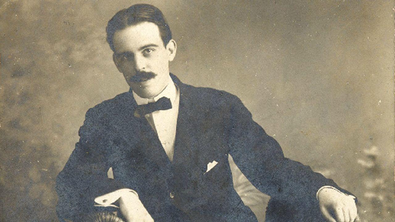 .Un dos retratos de Antón Villar Ponte conservados