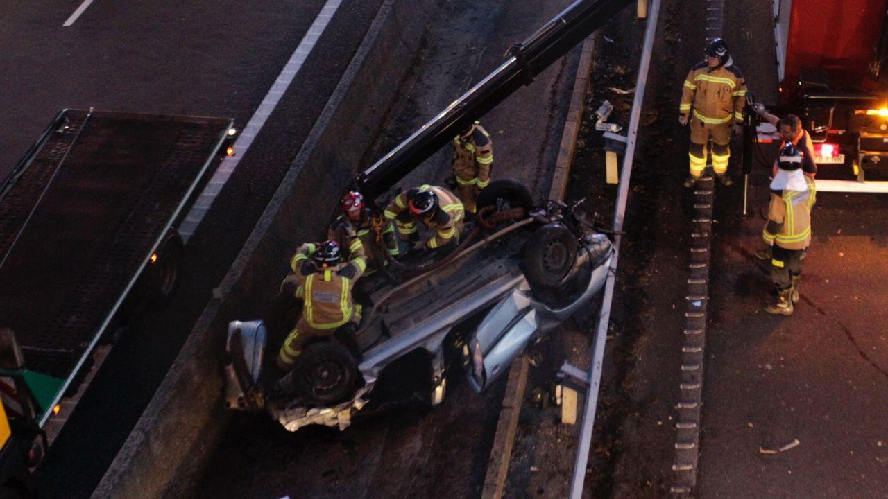 Accidente con tres muertos en la Ap-9 en Vigo