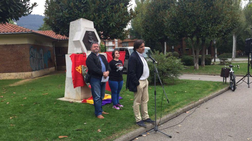 Alejandro Suárez, en un homenaje a Aida de la Fuente celebrado este domingo