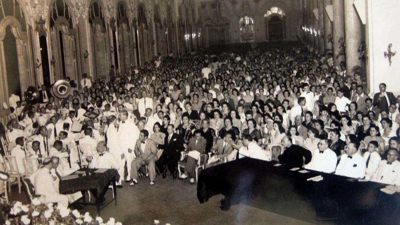 Estreno del Himno galego en el teatro Tacón de la Habana, el 20 de diciembre de 1007