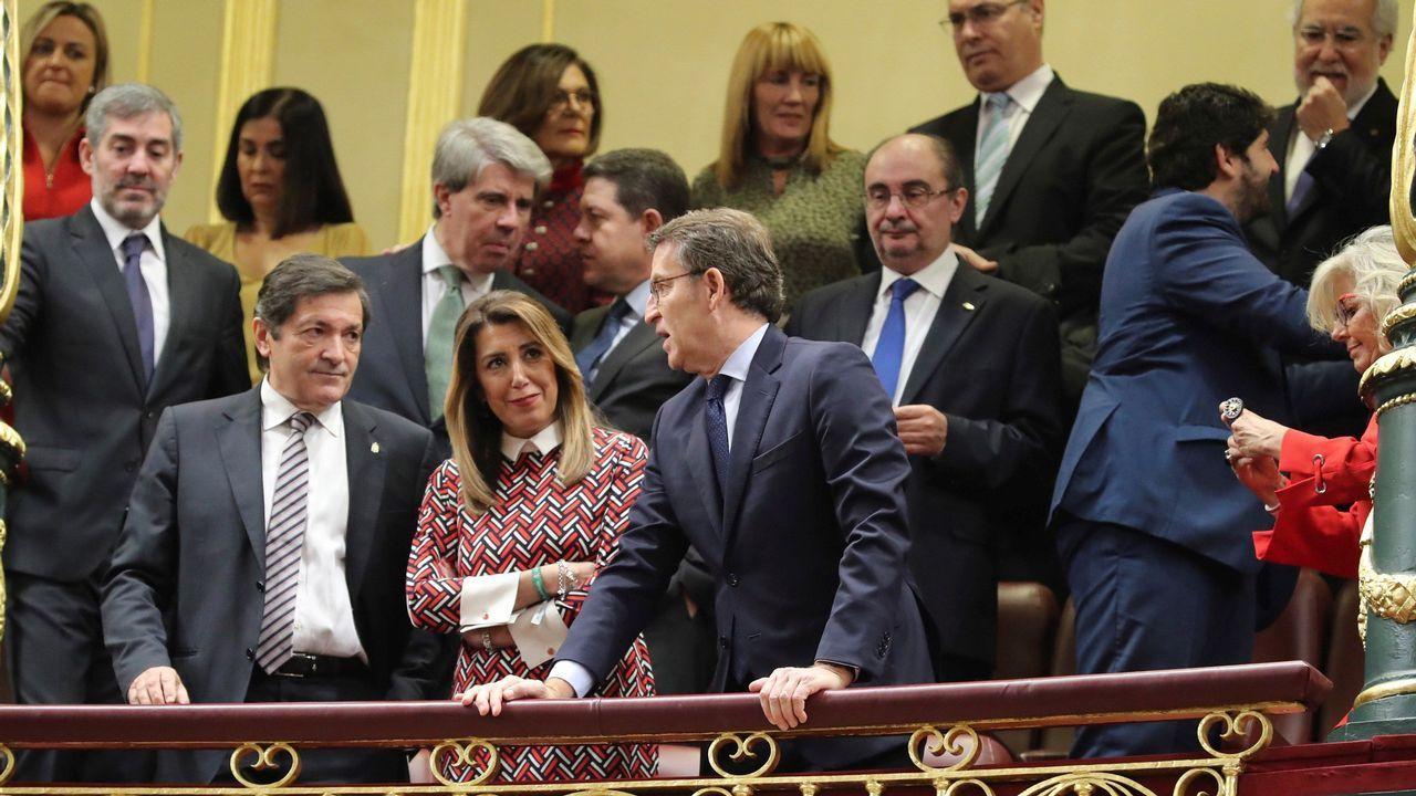 En directo desde el Congreso de los Diputados: 40 aniversario de la Constitución.Feijoo junto a los presidentes autonómicos de Andalucía y Asturias