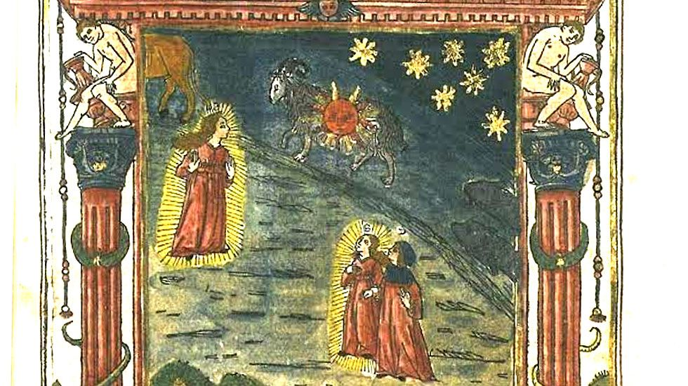 Una de las ilustraciones incluidas en  Incunabula universitatis