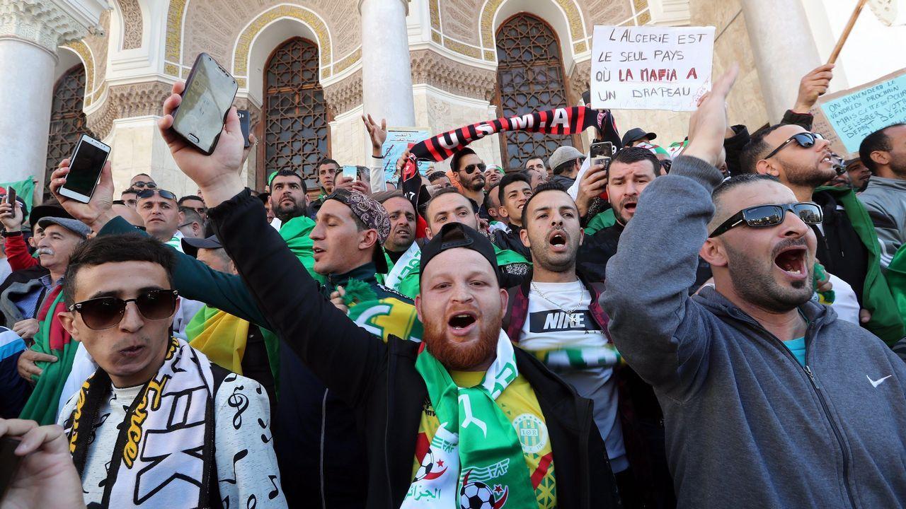 Protestas Argelia.Los jóvenes fueron de nuevo los protagonistas de las protestas