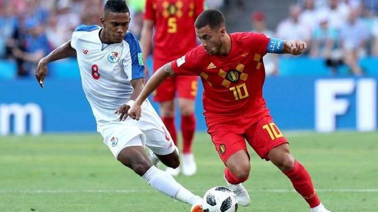 .Édgar Joel Bárcenas y Eden Hazard en el pasado Mundial