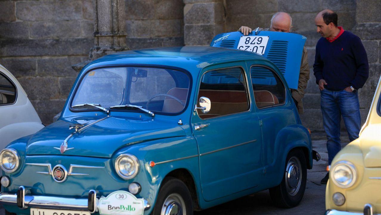 Concentración de SEAT 600 en Lugo en el 2016.