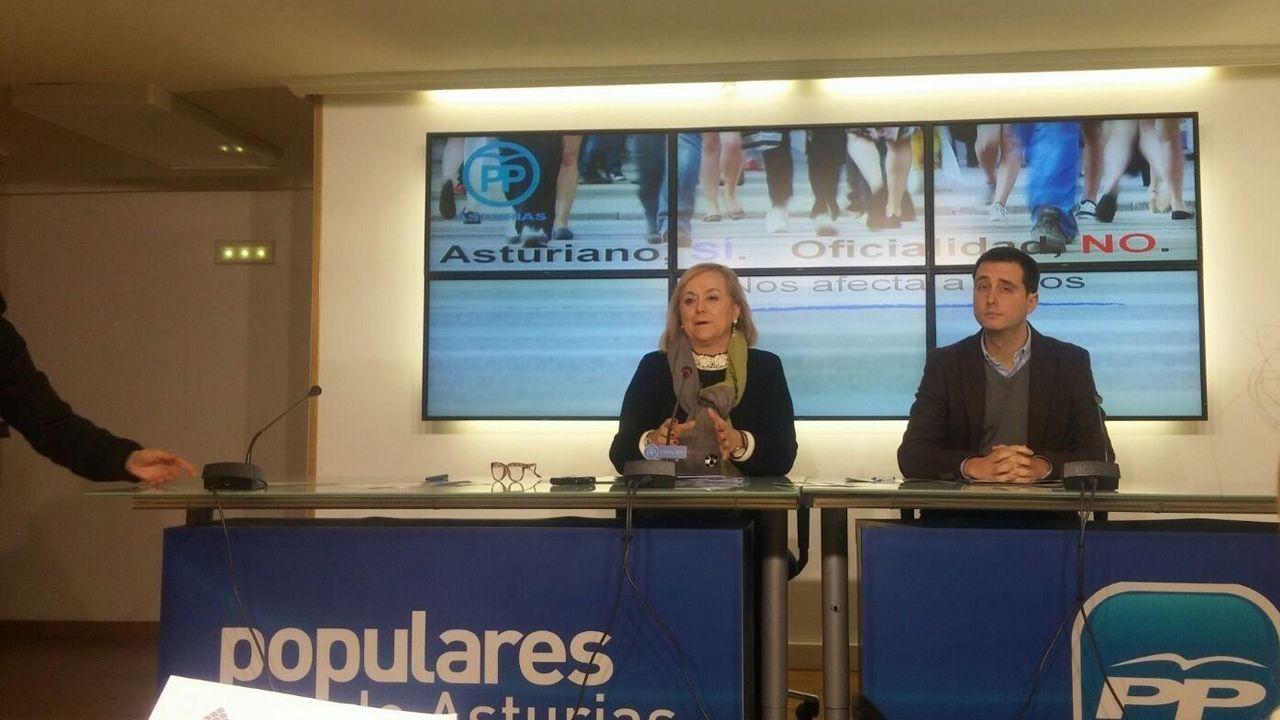 Mercedes Fernández (PP).Mercedes Fernández, durante el programa