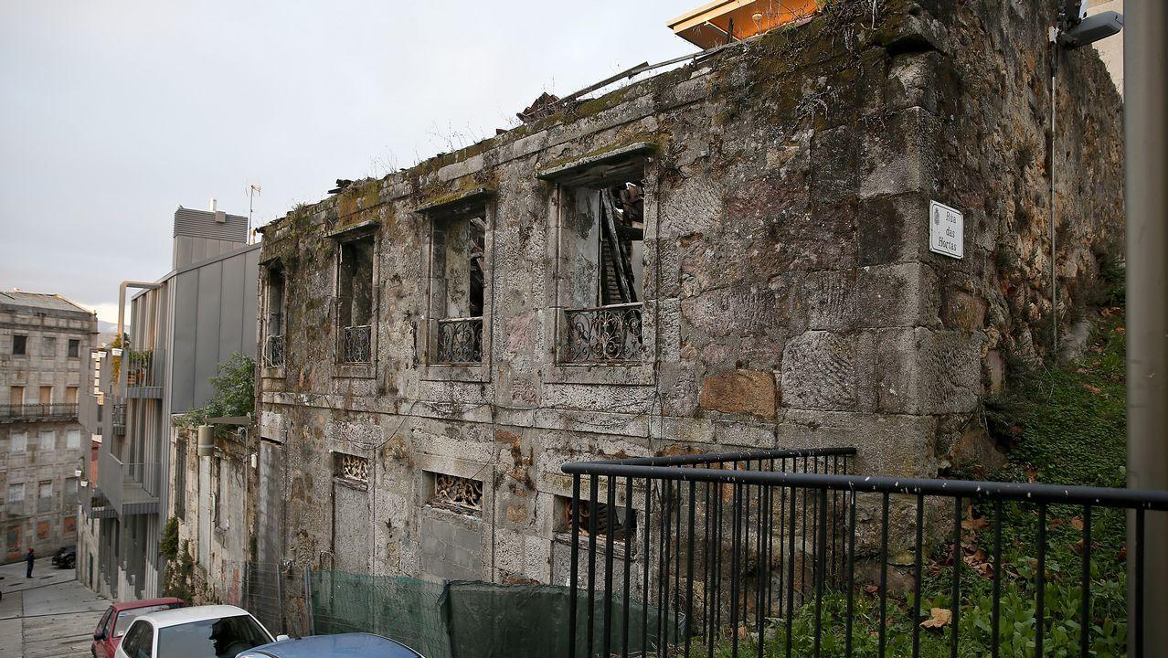Las propiedades a recuperar en el Casco Vello, el Ensanche y Bouzas.Eiras, en imagen de archivo