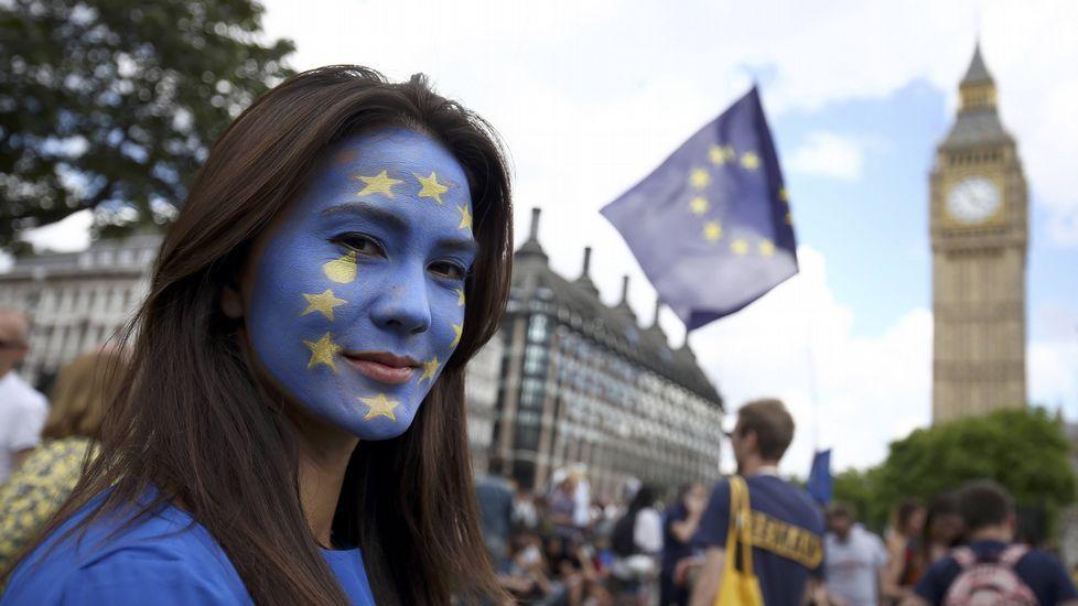 Manifestación en Londres contra el «brexit».