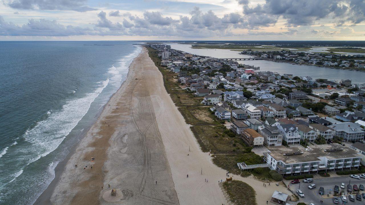 .Las playas casi vacias