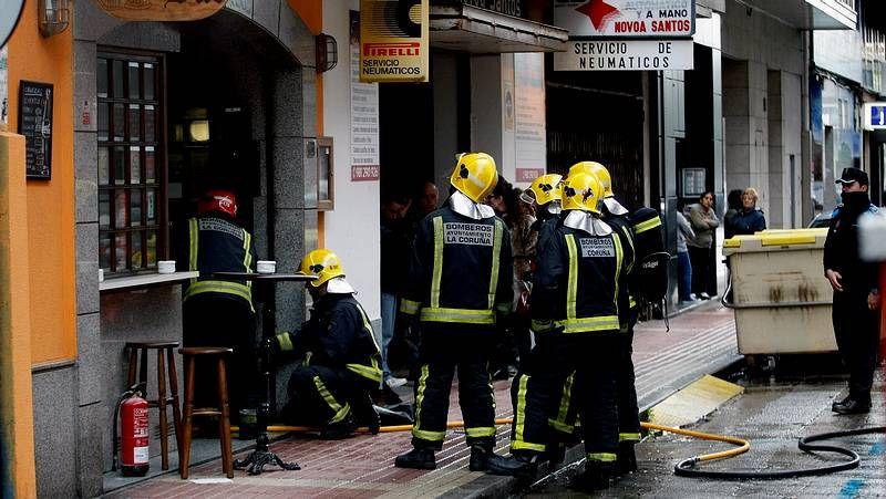 Incendio en un bar de A Coruña