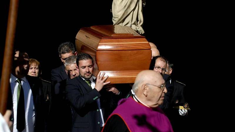 Último adiós a Isabel Carrasco en León.Marcos Martínez, presidente de la Diputación de León