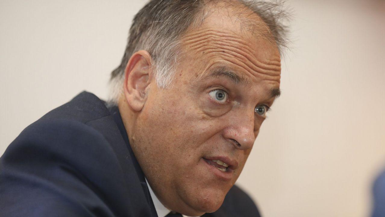 Tebas: «Cambiaría la ley para poder suspender la final de Copa si hay pitidos».