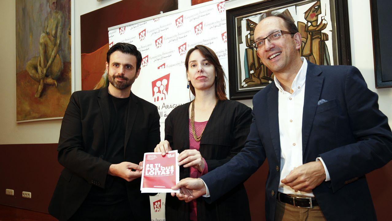 Julie Fernández, diputada belga de origen asturiano.Celeste Intriago, presidenta de la Coordinadora Asturiana de ONGD