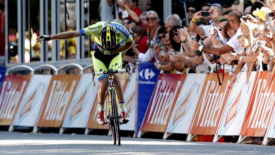 La etapa ourensana de La Vuelta a España fue presentada ayer en los Balcóns de Madrid en el Concello de Parada de Sil.