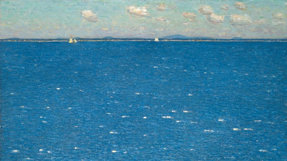 «Viento del oeste en la isla de Shoals» (Childe Hassam, 1904). Galería de Arte de la Universidad de Yale, New Haven, Connecticut
