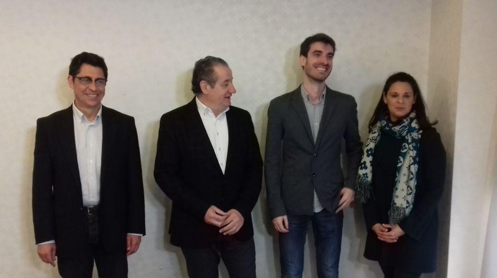 Pablo Simón, con los diputados de Ciudadanos