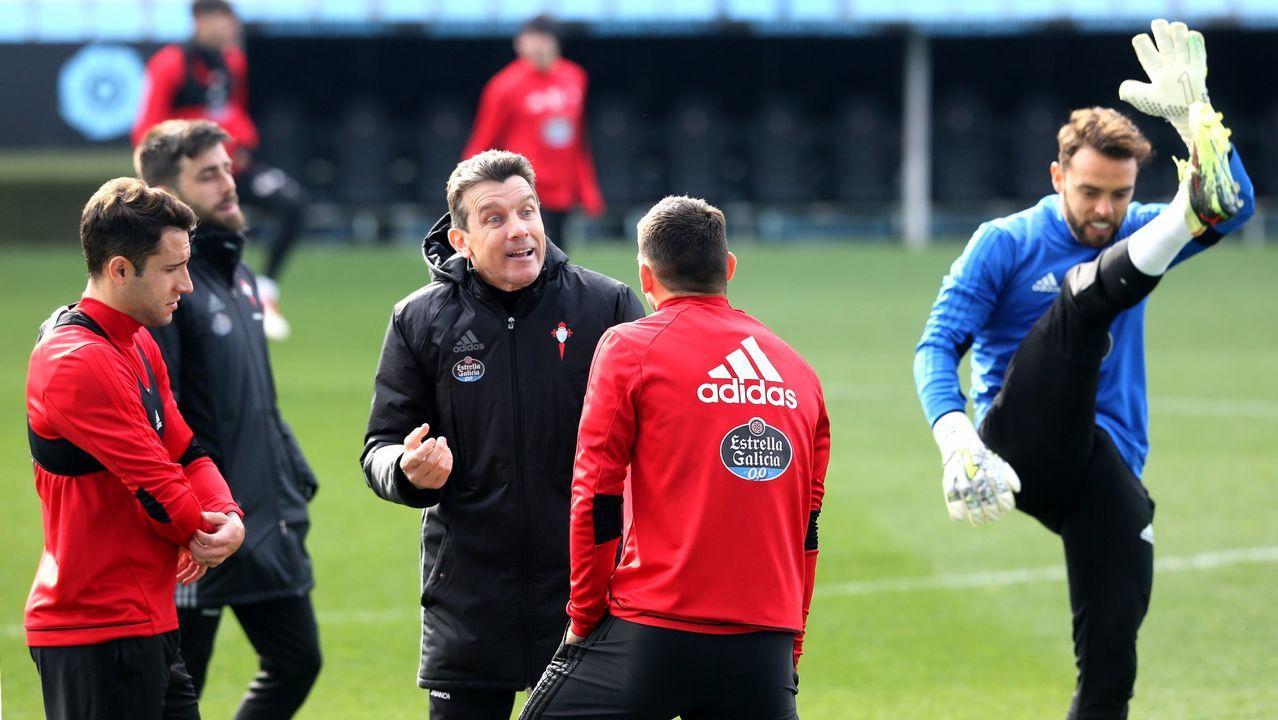 Así vivió Klopp la clasificación del Liverpool.Iago Aspas y Lucas Vázquez