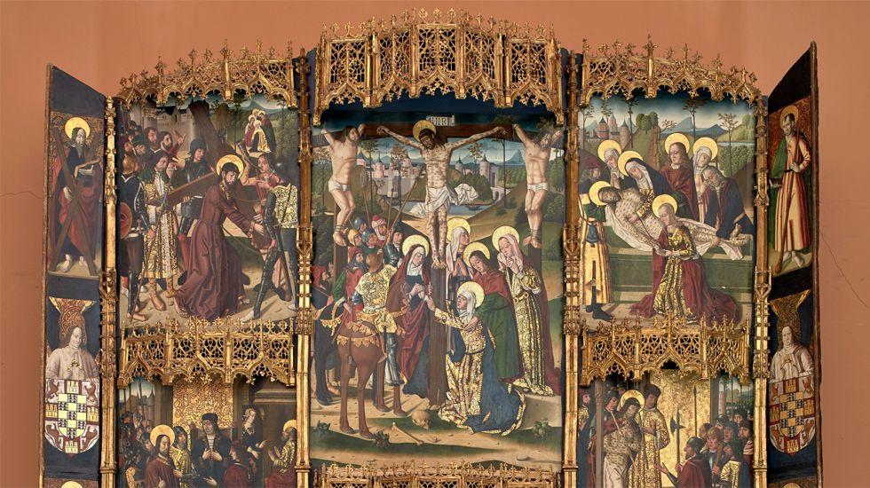 Fragmento del«Retablo de la Flagelación de Leonor de Velasco» (siglo XV)