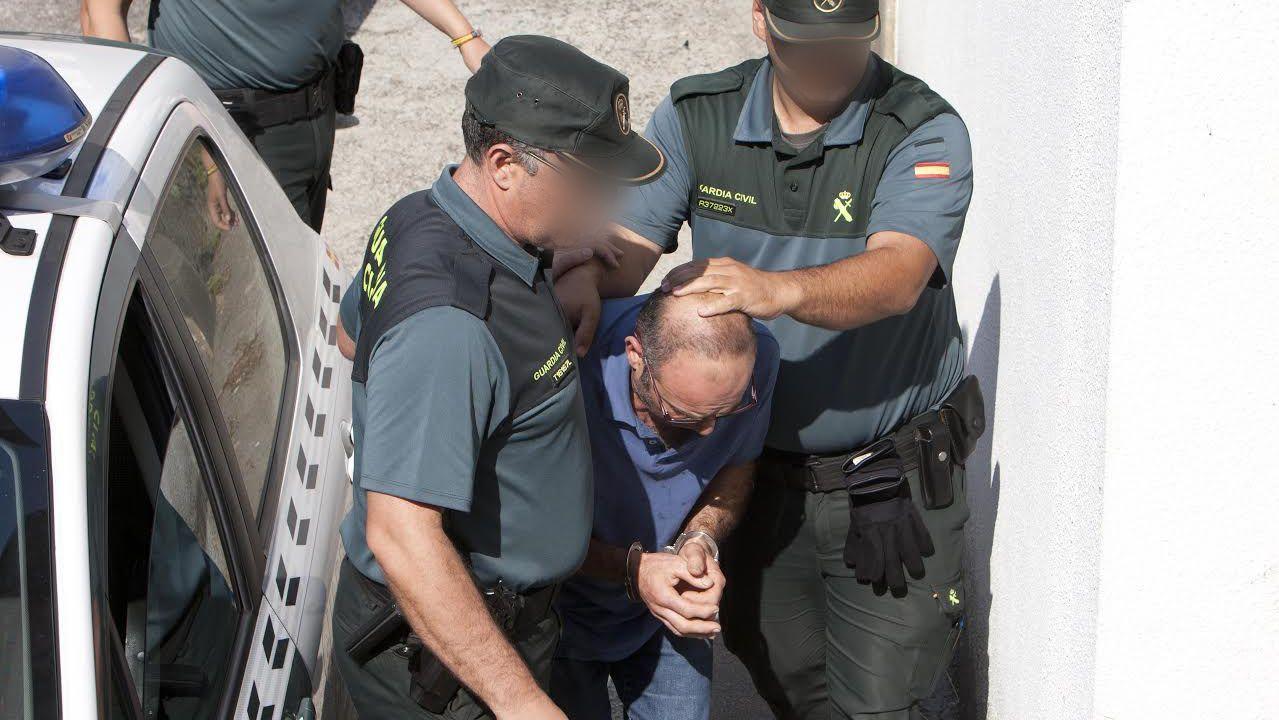 Momento de la detención del acusado, hace dos años