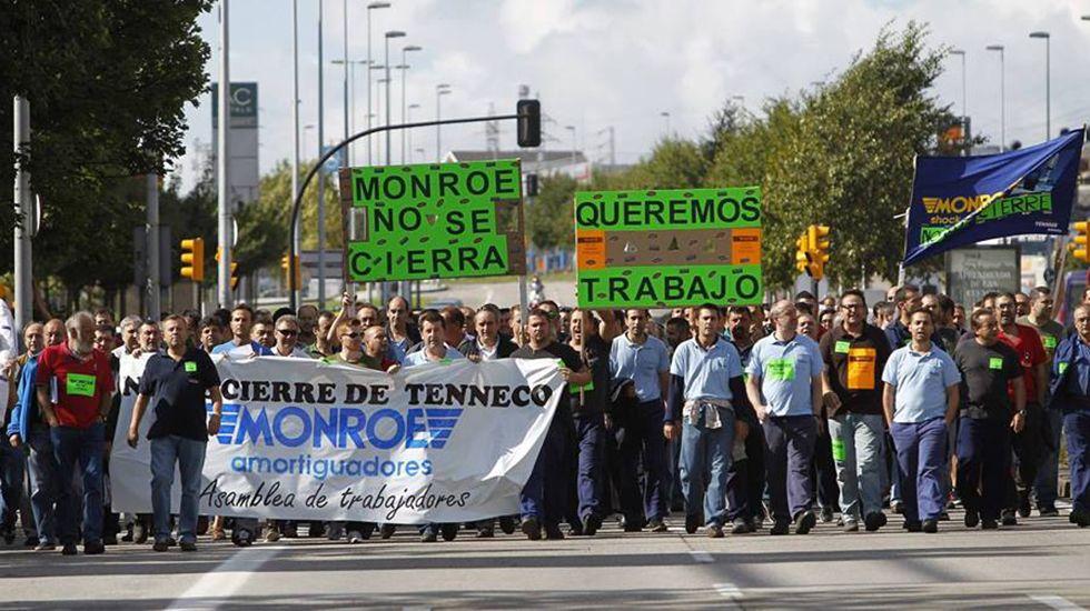 Manifestación de los trabajadores de Tenneco