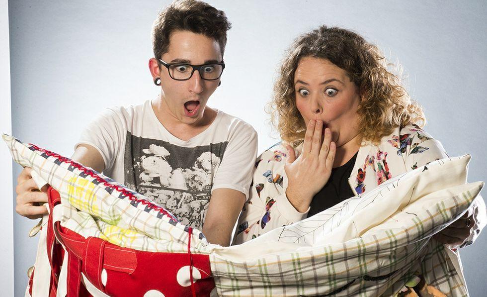 .Los alumnos elaboraron los cojines con los tejidos de Ikea
