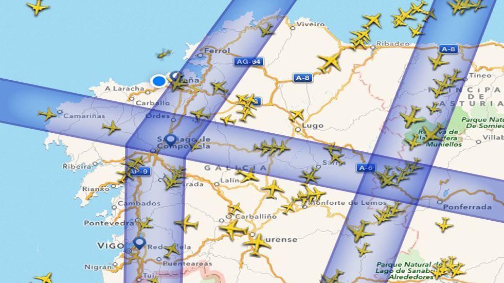 Las tres rutas de mayor flujo aéreo según datos de Flightradar24