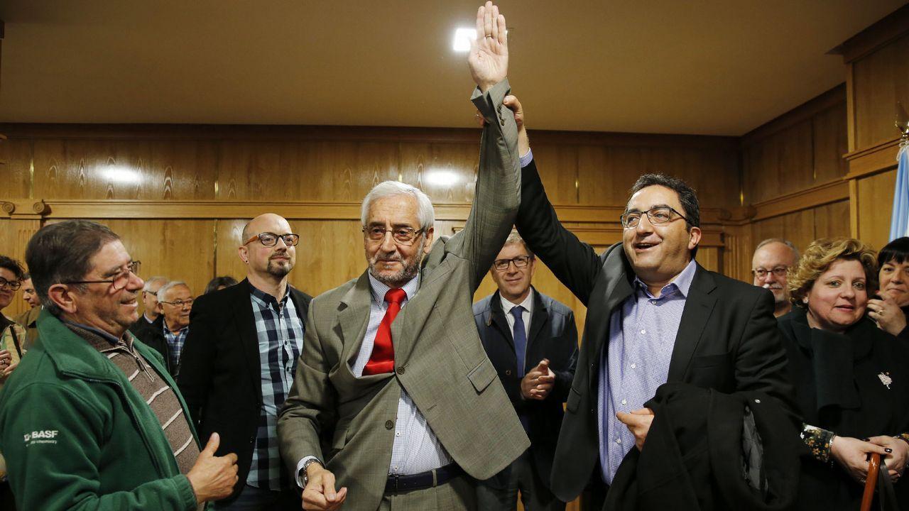 Manuel López Casas, nuevo alcalde de Xinzo.Desprendimientos en la N-120