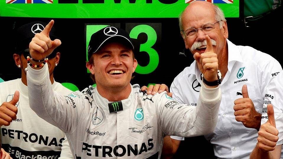 ¡Felicidades campeón!.El roce entre Rosberg y Hamilton