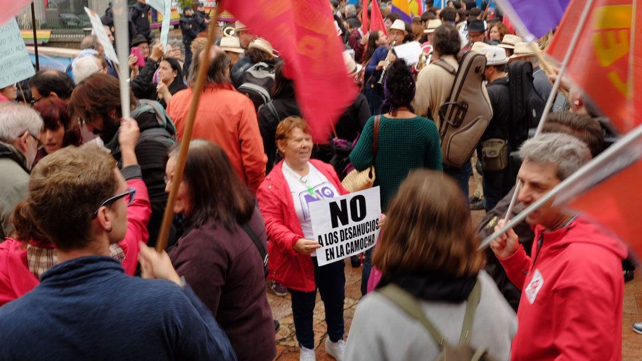 En la manifestación contra los Premios Princesa de Asturias, en Oviedo